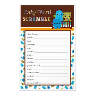 Kika en Scramble för ord för lek för bumonsterbaby Reklamblad 14 X 21,5 Cm
