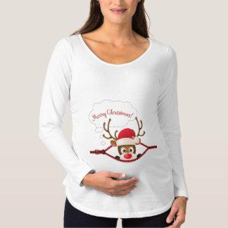 Kika en T-tröja för långärmad för burenmoderskap Tröjor
