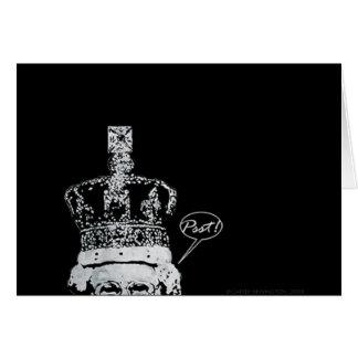 Kika majestäthälsningkortet hälsningskort