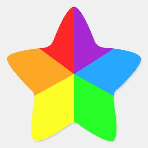 Kilar för regnbåge för Corey tiger80-tal Stjärnformade Klistermärken
