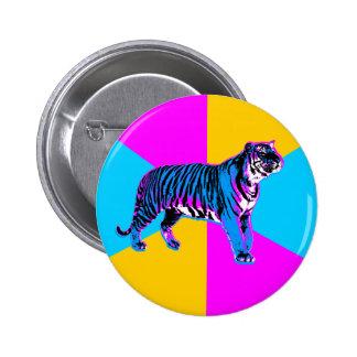 Kilar för tiger & för neon för Corey tiger80-tal R Standard Knapp Rund 5.7 Cm