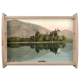 Kilchurn slott, Argyll och Bute, Skottland Serveringsbricka