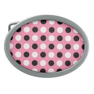 Killa mig rosa polka dots som bältet spänner fast