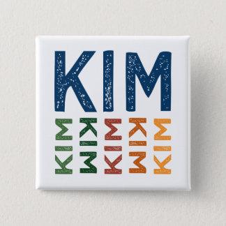 Kim gulligt färgrikt standard kanpp fyrkantig 5.1 cm