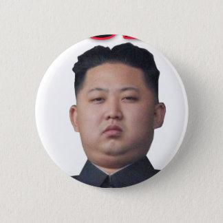 Kim Jong-il pilbåge Standard Knapp Rund 5.7 Cm