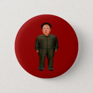 Kim Jong illin Standard Knapp Rund 5.7 Cm