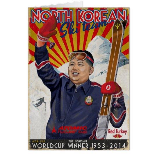Kim Jong Un Hälsningskort