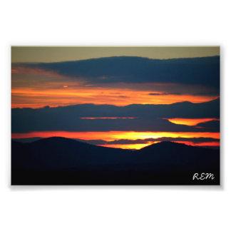 Kimball backe, Hillsboro New Hampshire Fototryck