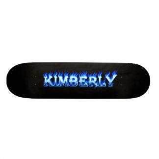Kimberly blått avfyrar den Skatersollie Skateboard Bräda 21,5 Cm