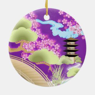 Kimono- & Geishaflickaprydnad Julgransprydnad Keramik