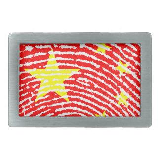 Kinesen identifierar med fingeravtryck flagga