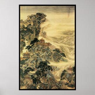 Kinesen landskap III Affischer
