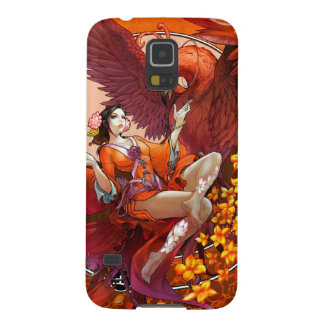 Kinesisk ande av den elementära Phoenix w kinesen Galaxy S5 Fodral
