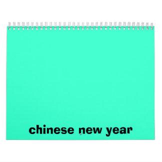 kinesisk calander för nytt år kalender