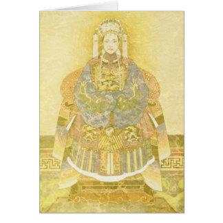 Kinesisk Empress på henne biskopsstol Hälsningskort