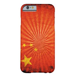 Kinesisk flagga för kall Grunge Barely There iPhone 6 Fodral