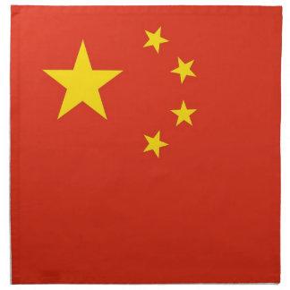 Kinesisk flagga på den MoJo servetten Näsdukar