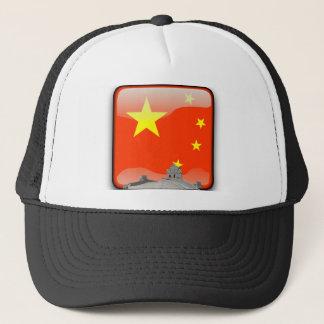 Kinesisk glansig flagga truckerkeps