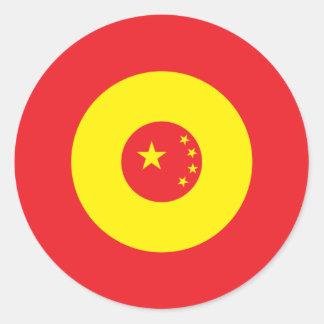 Kinesisk modrundaklistermärke 3 runt klistermärke