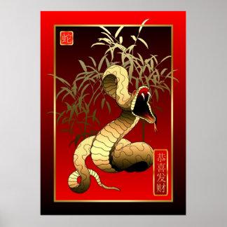 Kinesisk ny Year-2013-year av ormen Poster