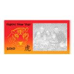kinesisk photocard för nytt år hälsningskort med foto