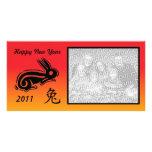 Kinesisk photocardkanin för nytt år anpassingsbara fotokort