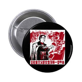 Kinesisk propaganda standard knapp rund 5.7 cm