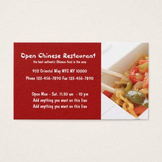 Kinesisk restaurang och cuisine visitkort