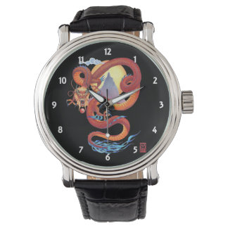 Kinesisk röd drake armbandsur