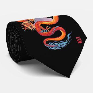 Kinesisk röd drake slips