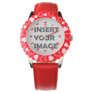 Kinesisk siffer- klocka för tecken (röd stilsort)