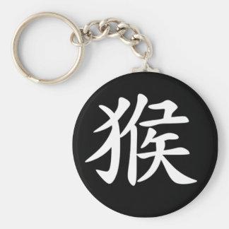 Kinesisk Zodiac - apa Rund Nyckelring