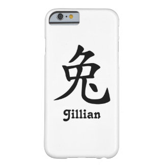 Kinesisk Zodiac - kanin - svart Barely There iPhone 6 Fodral