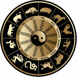 Kinesisk Zodiac kartlägger Cut Out