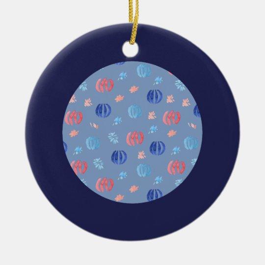 Kinesiska lyktor cirklar prydnaden rund julgransprydnad i keramik
