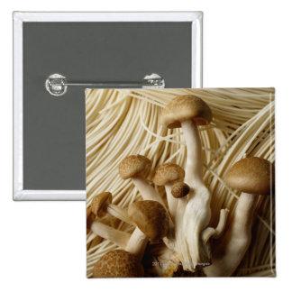 Kinesiska nudlar och champinjoner standard kanpp fyrkantig 5.1 cm