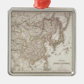 Kinesiska och japanska välden julgransprydnad metall