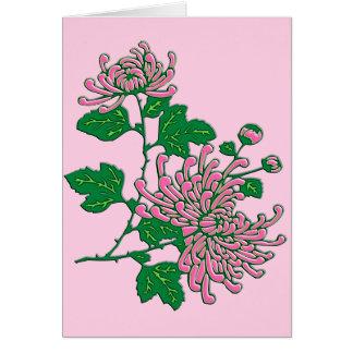 Kinesiska spindelchrysanthemums - mjuka rosor OBS kort