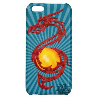 Kinesiskt år av det metalliska rött för drake iPhone 5C mobil skal