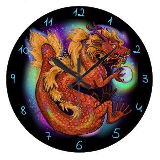 Kinesiskt år av draken stor klocka