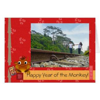 Kinesiskt Lunar nytt år (apan) Hälsningskort