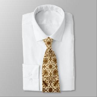 Kinesiskt mönster för art nouveau - brunt och slips
