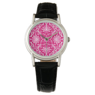 Kinesiskt mönster för art nouveau - Fuschia rosa