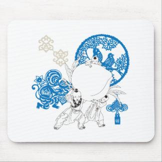 Kinesiskt mönster för vintage med apan och barn mus mattor