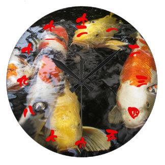 Kinesiskt siffer- tecken för Koi fisk (den röda Stor Klocka