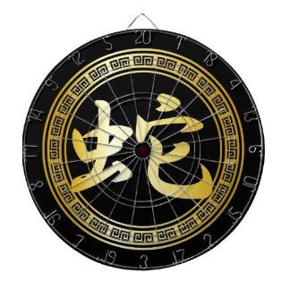 Kinesiskt symbolår av ormen GB Darttavla
