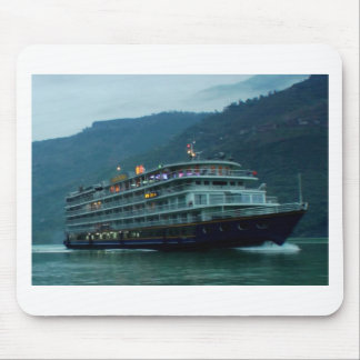 Kinesiskt turist- fartyg i floden Yangtz Musmattor