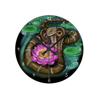 Kinesiskt Zodiacår av ormen Rund Klocka