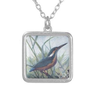 kingfisher silverpläterat halsband