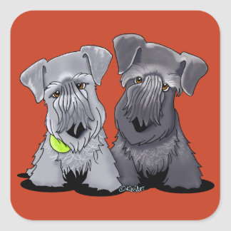 KiniArt Cesky Terriers Fyrkantigt Klistermärke
